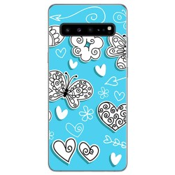 Funda Gel Tpu para Samsung Galaxy S10 5G diseño Mariposas Dibujos