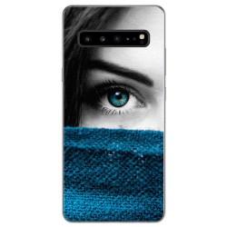 Funda Gel Tpu para Samsung Galaxy S10 5G diseño Ojo Dibujos