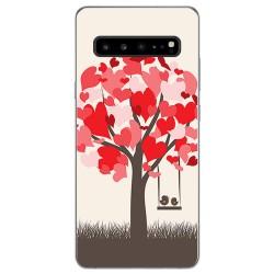 Funda Gel Tpu para Samsung Galaxy S10 5G diseño Pajaritos Dibujos