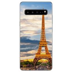 Funda Gel Tpu para Samsung Galaxy S10 5G diseño Paris Dibujos