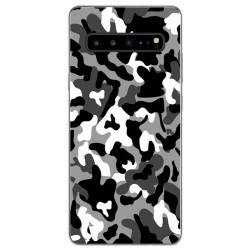 Funda Gel Tpu para Samsung Galaxy S10 5G diseño Snow Camuflaje Dibujos