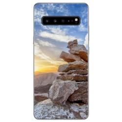Funda Gel Tpu para Samsung Galaxy S10 5G diseño Sunset Dibujos