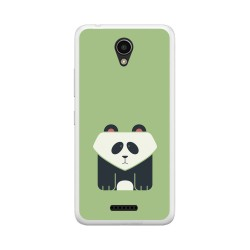 "Funda Gel Tpu para Lenovo Moto B 4,5"" 4G / A Plus Diseño Panda Dibujos"