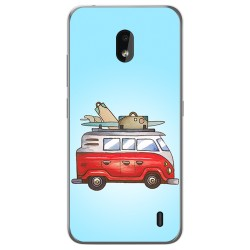 Funda Gel Tpu para Nokia 2.2 diseño Furgoneta Dibujos