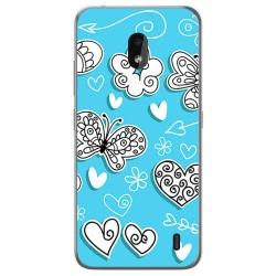 Funda Gel Tpu para Nokia 2.2 diseño Mariposas Dibujos