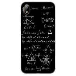 Funda Gel Tpu para Huawei Y5 2019 diseño Formulas Dibujos