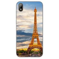 Funda Gel Tpu para Huawei Y5 2019 diseño Paris Dibujos