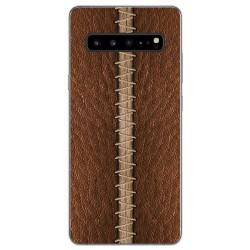 Funda Gel Tpu para Samsung Galaxy S10 5G diseño Cuero 01 Dibujos