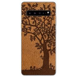 Funda Gel Tpu para Samsung Galaxy S10 5G diseño Cuero 03 Dibujos