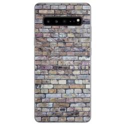 Funda Gel Tpu para Samsung Galaxy S10 5G diseño Ladrillo 02 Dibujos