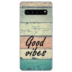 Funda Gel Tpu para Samsung Galaxy S10 5G diseño Madera 01 Dibujos