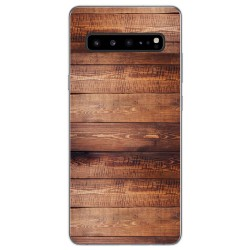 Funda Gel Tpu para Samsung Galaxy S10 5G diseño Madera 02 Dibujos