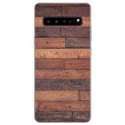 Funda Gel Tpu para Samsung Galaxy S10 5G diseño Madera 03 Dibujos