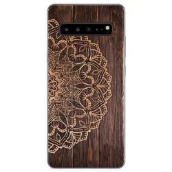 Funda Gel Tpu para Samsung Galaxy S10 5G diseño Madera 06 Dibujos