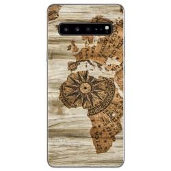 Funda Gel Tpu para Samsung Galaxy S10 5G diseño Madera 07 Dibujos