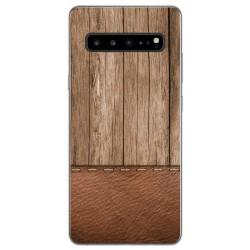 Funda Gel Tpu para Samsung Galaxy S10 5G diseño Madera 09 Dibujos