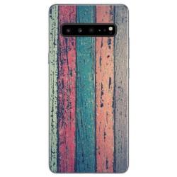 Funda Gel Tpu para Samsung Galaxy S10 5G diseño Madera 10 Dibujos