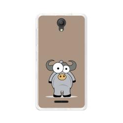 "Funda Gel Tpu para Alcatel Pixi 4 (5"") 3G Diseño Toro Dibujos"