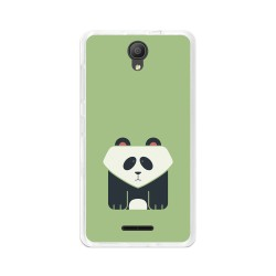 "Funda Gel Tpu para Alcatel Pixi 4 (5"") 3G Diseño Panda Dibujos"