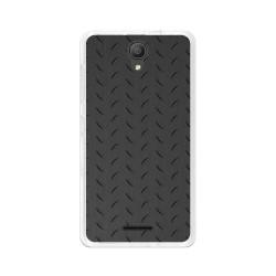 """Funda Gel Tpu para Alcatel Pixi 4 (5"""") 3G Diseño Metal Dibujos"""