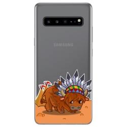 Funda Gel Transparente para Samsung Galaxy S10 5G diseño Bufalo Dibujos