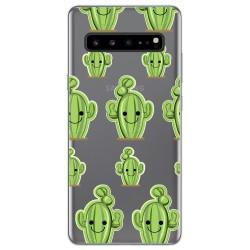 Funda Gel Transparente para Samsung Galaxy S10 5G diseño Cactus Dibujos
