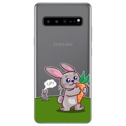 Funda Gel Transparente para Samsung Galaxy S10 5G diseño Conejo Dibujos
