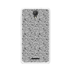 "Funda Gel Tpu para Alcatel Pixi 4 (5"") 3G Diseño Letras Dibujos"