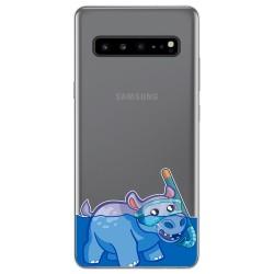 Funda Gel Transparente para Samsung Galaxy S10 5G diseño Hipo Dibujos