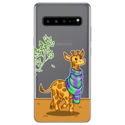 Funda Gel Transparente para Samsung Galaxy S10 5G diseño Jirafa Dibujos