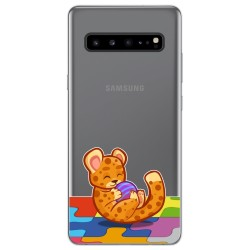 Funda Gel Transparente para Samsung Galaxy S10 5G diseño Leopardo Dibujos