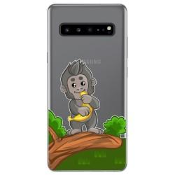 Funda Gel Transparente para Samsung Galaxy S10 5G diseño Mono Dibujos