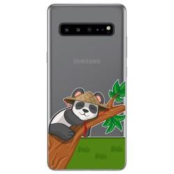 Funda Gel Transparente para Samsung Galaxy S10 5G diseño Panda Dibujos