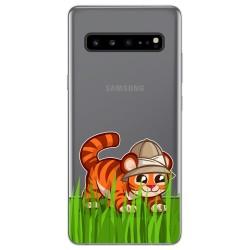 Funda Gel Transparente para Samsung Galaxy S10 5G diseño Tigre Dibujos
