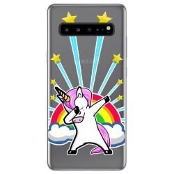 Funda Gel Transparente para Samsung Galaxy S10 5G diseño Unicornio Dibujos