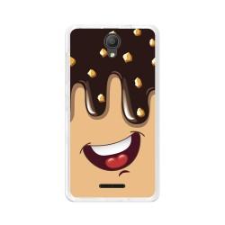 "Funda Gel Tpu para Alcatel Pixi 4 (5"") 3G Diseño Helado Chocolate Dibujos"