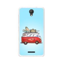 "Funda Gel Tpu para Alcatel Pixi 4 (5"") 3G Diseño Furgoneta Dibujos"