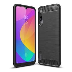 Funda Gel Tpu Tipo Carbon Negra para Xiaomi Mi A3