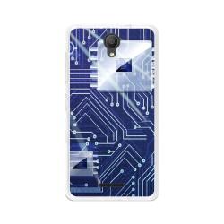 "Funda Gel Tpu para Alcatel Pixi 4 (5"") 3G Diseño Circuito Dibujos"