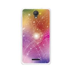 "Funda Gel Tpu para Alcatel Pixi 4 (5"") 3G Diseño Abstracto Dibujos"