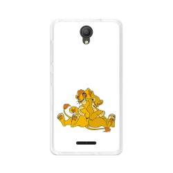 "Funda Gel Tpu para Alcatel Pixi 4 (5"") 3G Diseño Leones Dibujos"