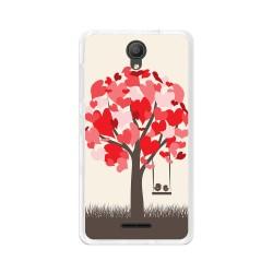 "Funda Gel Tpu para Alcatel Pixi 4 (5"") 3G Diseño Pajaritos Dibujos"