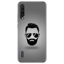 Funda Gel Tpu para Xiaomi Mi A3 diseño Barba Dibujos