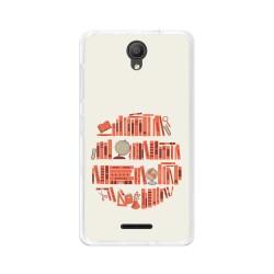 "Funda Gel Tpu para Alcatel Pixi 4 (5"") 3G Diseño Mundo-Libro Dibujos"