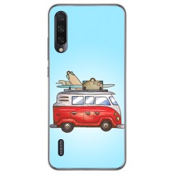 Funda Gel Tpu para Xiaomi Mi A3 diseño Furgoneta Dibujos