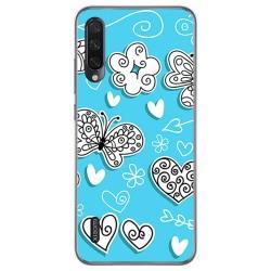 Funda Gel Tpu para Xiaomi Mi A3 diseño Mariposas Dibujos