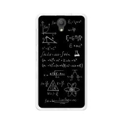 """Funda Gel Tpu para Alcatel Pixi 4 (5"""") 3G Diseño Formulas Dibujos"""