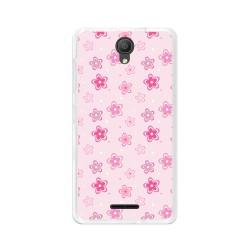 "Funda Gel Tpu para Alcatel Pixi 4 (5"") 3G Diseño Flores Dibujos"