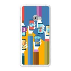 Funda Gel Tpu para Xiaomi Mi Note 2 5.7 Diseño Apps Dibujos