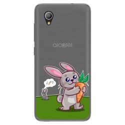 Funda Gel Transparente para Alcatel 1 2019 diseño Conejo Dibujos